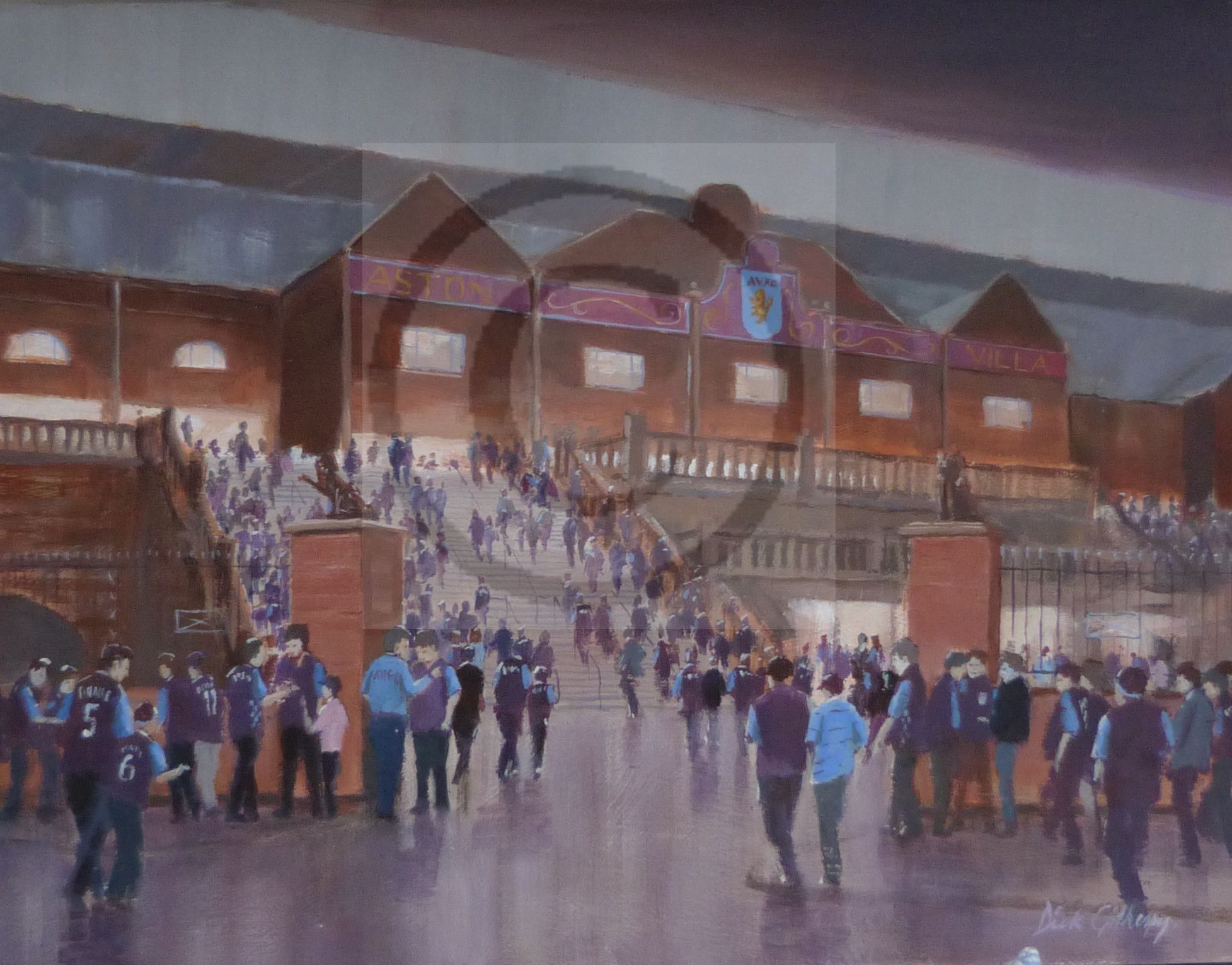 Football painting for Aston Villa fans, by Dick Gilhespy