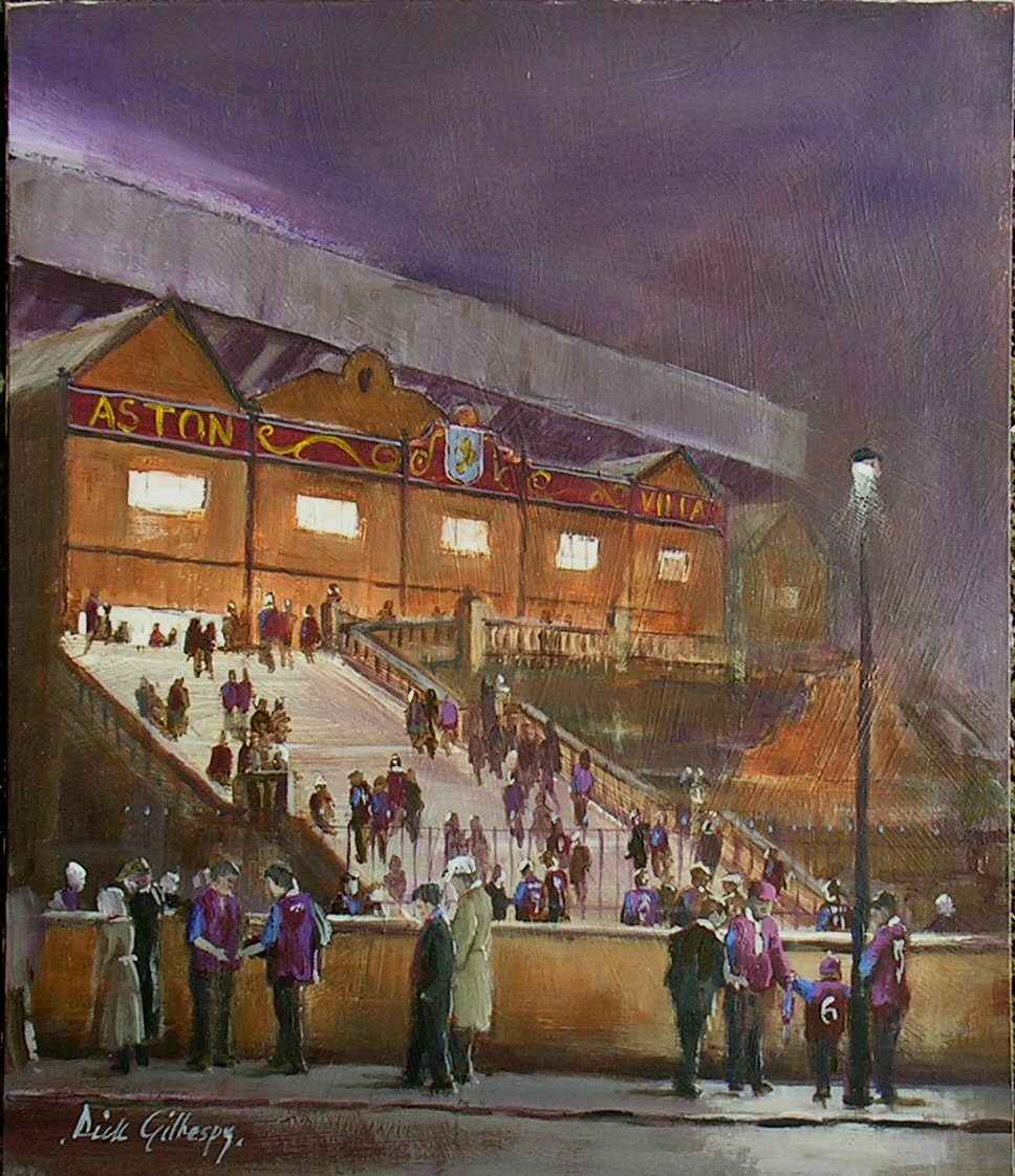 Aston Villa AFC football paintings by Dick Gilhespy