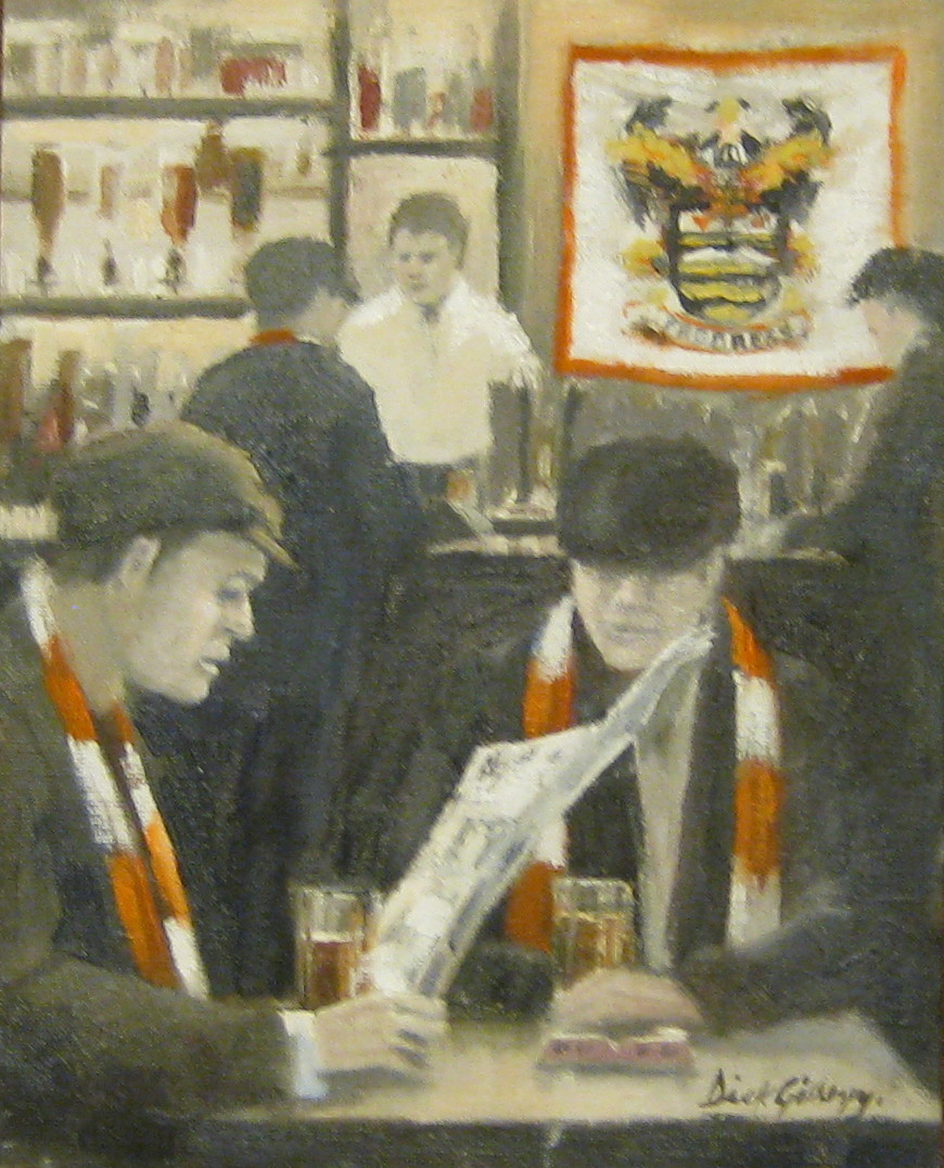 Blackpool FC football paintings by Dick Gilhespy