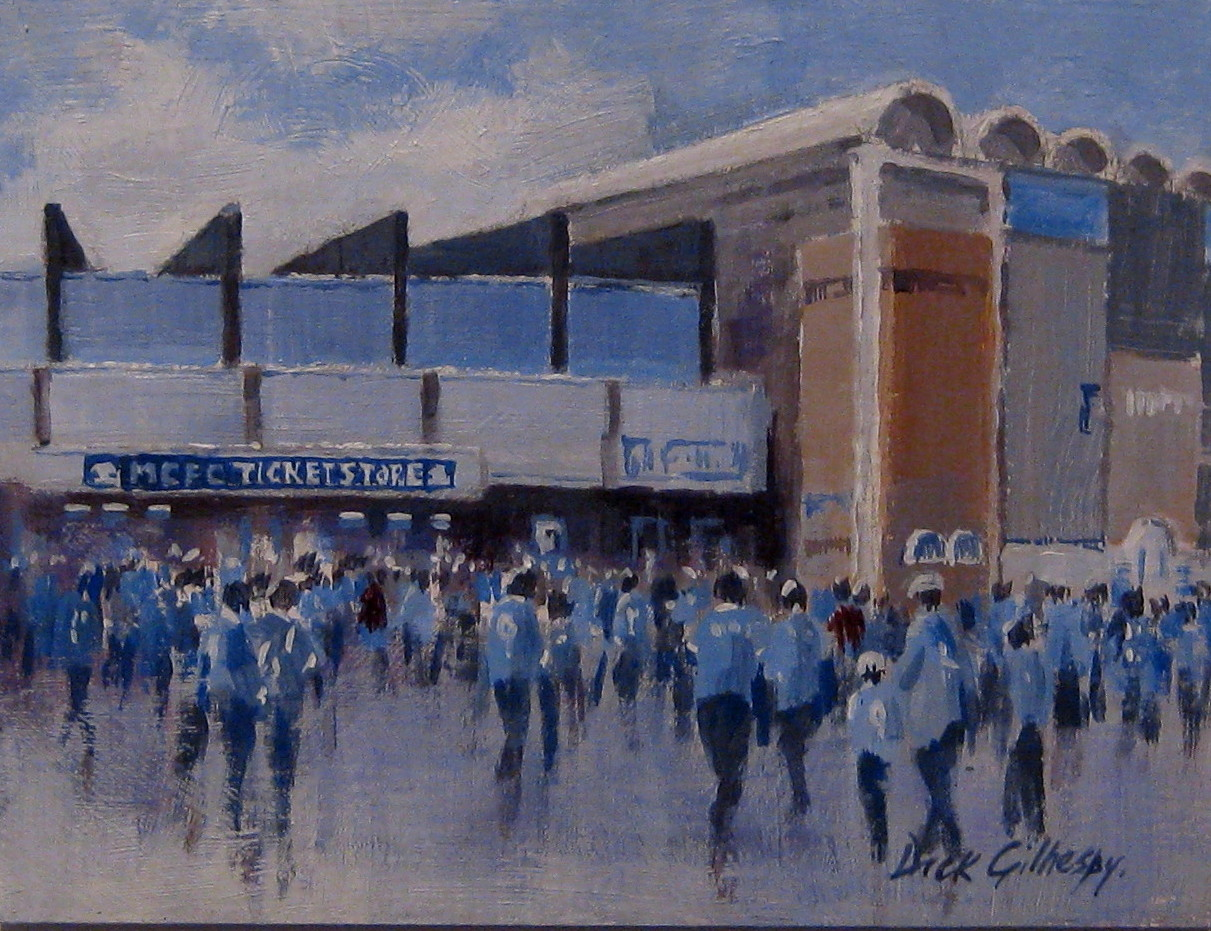 Manchester City football paintings by Dick Gilhespy