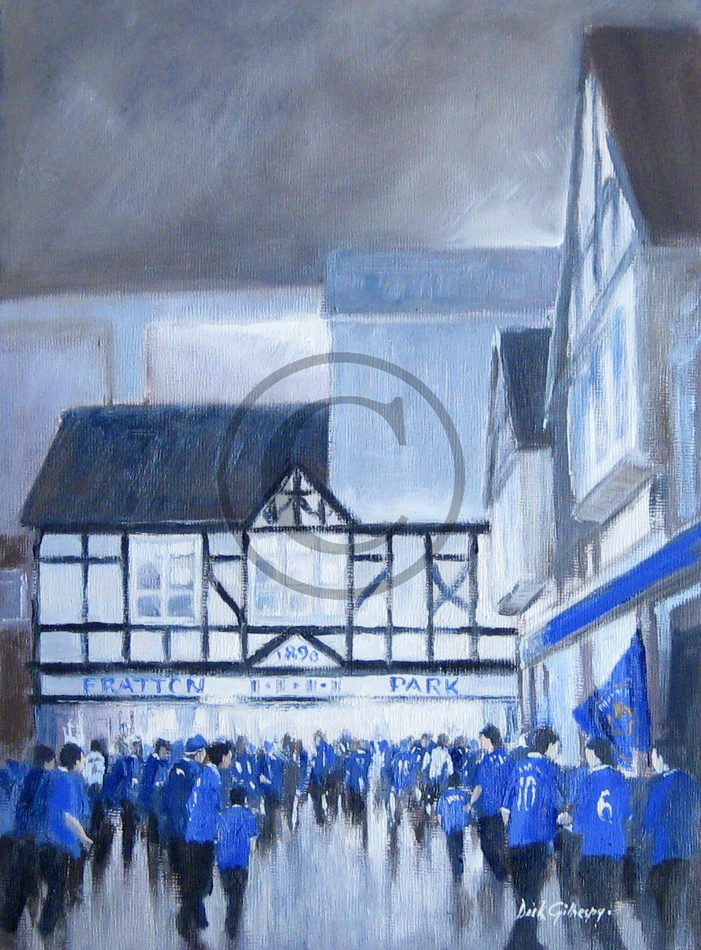 Portsmouth FC football paintings by Dick Gilhespy