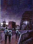 Newcastle United FC football paintings by Dick Gilhespy