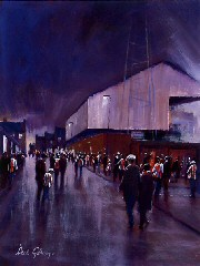 Football painting for SAFC, by Dick Gilhespy