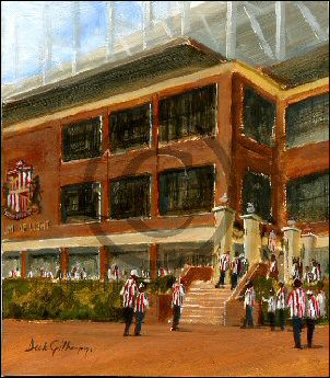 Football painting for SAFC by Dick Gilhespy