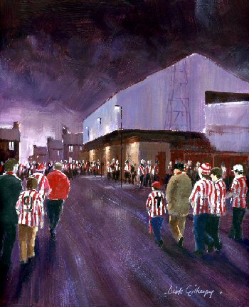 Football paintings for SAFC by Dick Gilhespy